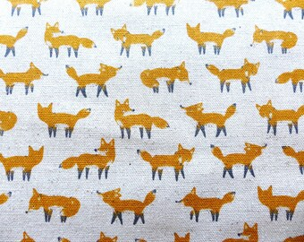1/2 yard - Little Fox, Kokka  Japanese import