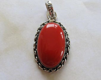 be worn can coral moonga pendant stone certified as red pendants