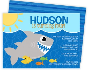 Shark Invitation, Shark Party, Shark Birthday Invitation, Shark Birthday, Shark Birthday Party, Shark Party Invite, Shark Invite  | 561
