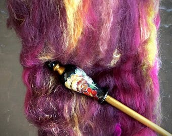 SPINNING BATT mini art batt made with luxury high end fibers Lovely colorway Right price to try something new. Spins like a dream  1+ oz.
