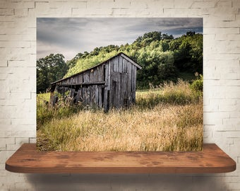 Barn Photograph - Fine Art Print - Color Photography - Wall Art - Wall Decor -  Barn Pictures - Farmhouse Decor - Clouds - Country - Rustic