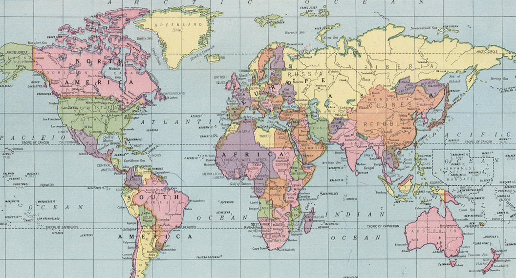 World map printable digital download 1925 vintage world map ampliar gumiabroncs Choice Image
