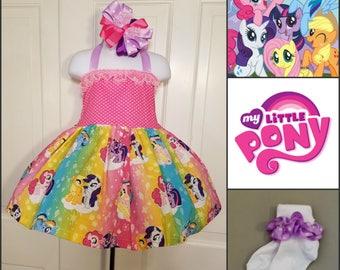 My Little Pony Twirl Dress, My Little Pony Birthday, Pony Birthday, Character Dress, Pony Character Dress