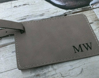 Personalized Leather Luggage Tag, Custom Luggage Tag, Luggage Tag Personalized, Monogram Luggage Tag, Travel Accessories
