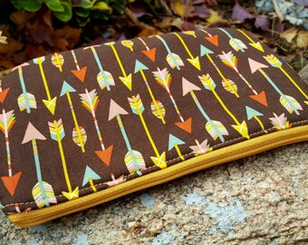 Tribal Arrows Cosmetic Bag, Arrows Makeup Bag