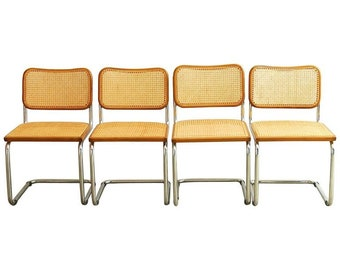 Set of Four Marcel Breuer Italian Cesca Chairs
