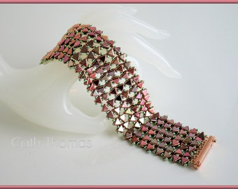 Instant download of tutorial Klapukin - Bracelet - Beading Tutorial - Bead weaving