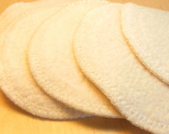 Eye makeup removal pads -  7 pack. Re-usable Organic Cotton Sherpa