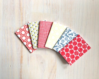 Notebooks: 6 Tiny Journal Set, Kids, Cute, Red, Lightbulbs, Small Notebooks, For Her, For Him, Gift, Unique, Mini Journals, Wedding, T099