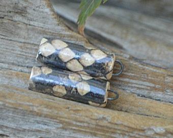 Snakeskin-  Handmade Porcelain Pillars