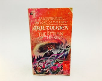 Vintage Fantasy Books The Return of the King by J.R.R. Tolkien 1968 Edition Paperback