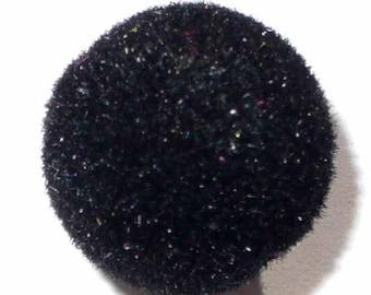 1 Pearl wool 18 mm black flocked black AR333