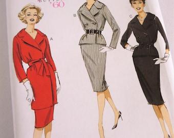 Retro Dress Pattern, Butterick Pattern, Butterick 6259, Vintage Dress Pattern, Pencil Skirt Pattern, Jacket Pattern, 60s Pattern, 60s