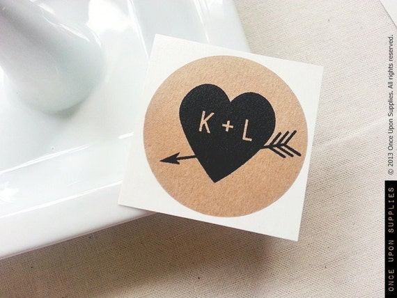 2 5 heart arrow mason jar labels round kraft stickers wedding mason jar favors wedding gifts custom wedding labels favors from onceuponsupplies on etsy