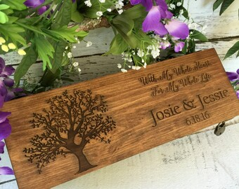 Wine Box, Wedding Wine Box, Love Letter Ceremony Box, Anniversary Gift, Wedding Gift