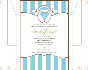 Hot air Balloon Shower Invitation