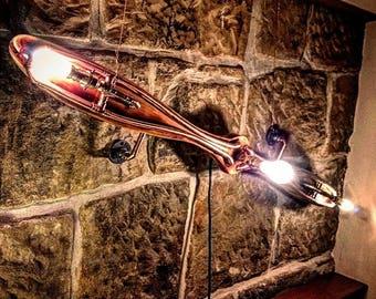 Retro Industrial Rustic  Propeller light - steampunk wall art lamp