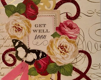 Anna Griffin inspied Get Well Card