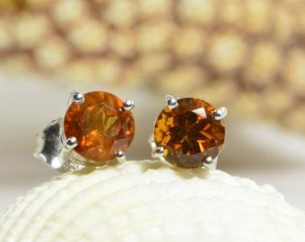 Mexican Fire Opal Earrings Sterling Silver Handmade Jewelry Handmade Jewelry