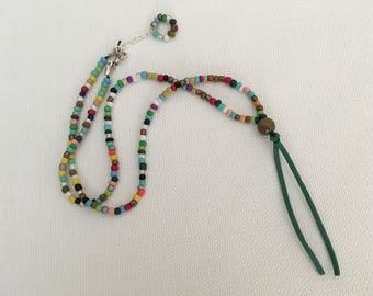 Beaded Mixed Color Mid-Long Necklace