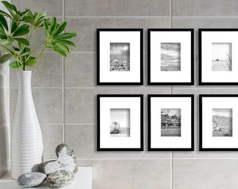 Beach Postcard Print Set of 6 Postcards Black and White Beach Photography Summer decor Abstract Prints Pebble Photo Beach Wall Decor