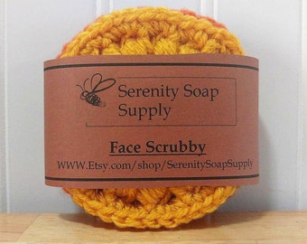 Face Scrubbies - Scrubby Set - Handmade Crochet - Makeup Remover - Exfoliant - Set of 3
