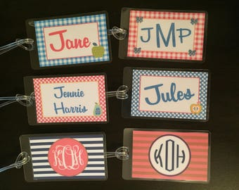 2017 MJ Inspired  Bag Tag - Personalized Girls' Bag Tag - Backpack Tag - Buy 4, Get 1 Free!