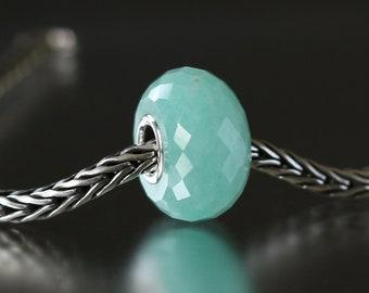 Amazonite faceted semi-precious gemstone 3-22