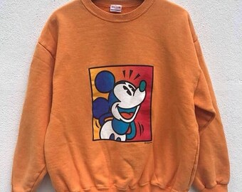 Vintage Mickey Mouse Sweatshirt Walt Disney Sweater Mickey Mouse Sweater Cartoon Sweatshirt Anime shirt sz S