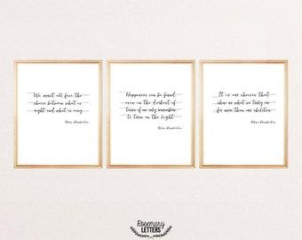 Set of 3 Dumbledore Quote Prints 8x10 Printable, Albus Dumbledore Quote, Harry Potter Quote, Harry Potter Printable