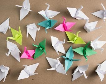 50 Handmade Small Paper Cranes
