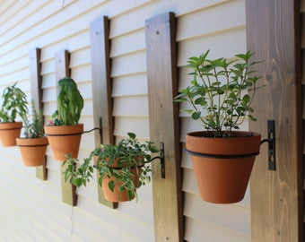 Wall Planter Outdoor Outdoor wall planter etsy outdoor rustic wall wood planter workwithnaturefo