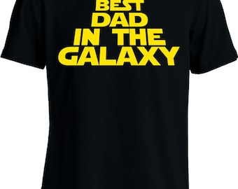 Funny Dad Shirt Daddy To Be T Shirt  Best Dad In The Galaxy Father's Day Gift Expectant Father Mens Tee MD-294