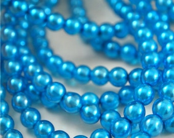 6mm Round Pearl Lights Teal-Qty 25 (CZ 6R TP)