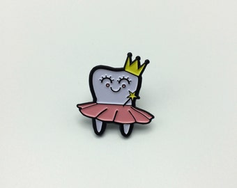 Tooth Fairy Enamel Pin, Soft Enamel Pin, Brooch, Gold Pin, Lapel Pin, Tooth Pin, Limited Edition