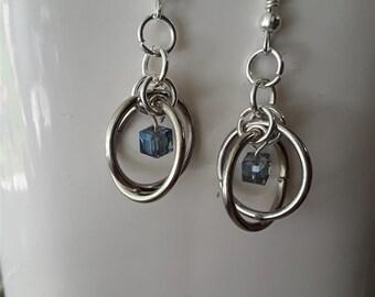Silver Orbit Earrings