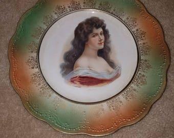 Portrait Plate by Dresden - Amoroza