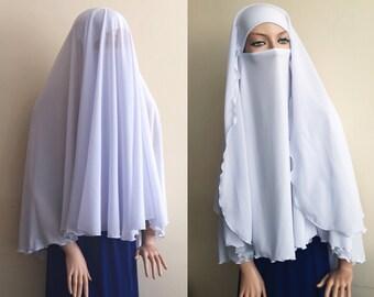 Niqab Schleier, weiße Farbe, lange Hijab, Niqab Transformator, schwarzen Niqab, geschlossene Gesicht niqab