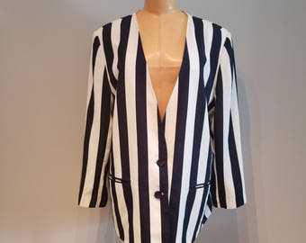 Navy striped blazer