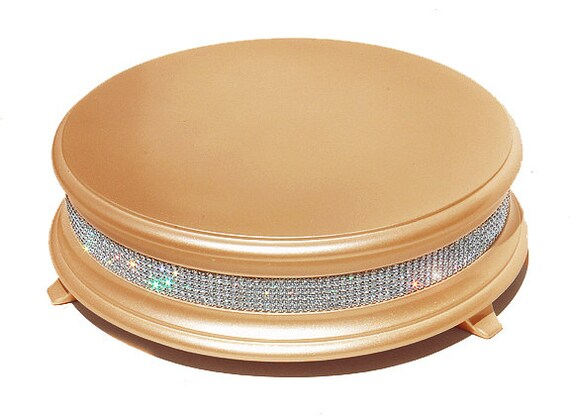 Good 22 Inch Gold Diamond Bling Wedding Cake Stand