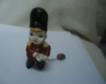 Vintage Soldier Drummer Boy Figurine Carrying Chain, collectable