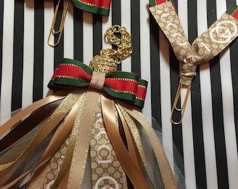 Gucci planner tassel, gucci inspired, planner tassel, TN charm, planner paper clip, LV agenda, Louis Vuitton planner, mm gm pm, planner band