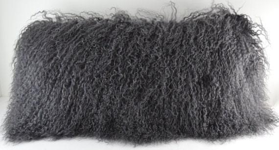 cushion pillow cushions fur bear faux black