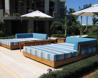 """The """"Wild Dunes"""" Outdoor Lounge Bed -- FREE SHIPPING!"""