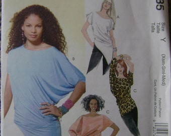 OUT of PRINT McCall's Pattern M4835 Misses' Tops