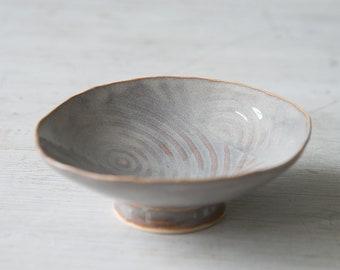 natural-blue-brown-bowl-rustic-handmade-ceramic-ceramic bowl-dish-gift for her-gift for him-pottery-kitchenware,lavendar, spirals, circular