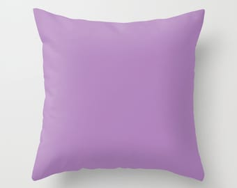 African Violet Pillow, #B284BE , Solid Purple Pillow, Violet Pillow, Light Purple Pillow, Violet Decor, Minimalist Decor, Minimalist Pillow