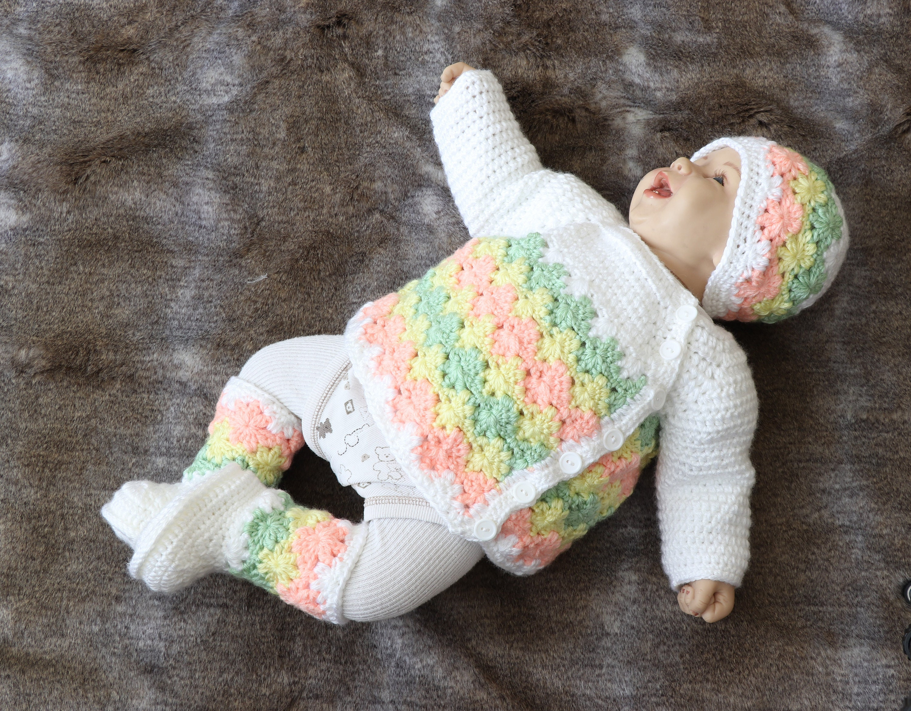 Crochet Baby Outfit Baby Home Coming Outfit Gender Neutral Baby