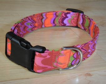 New Kaffe Fassett  cotton Dog collar Modern dog collar