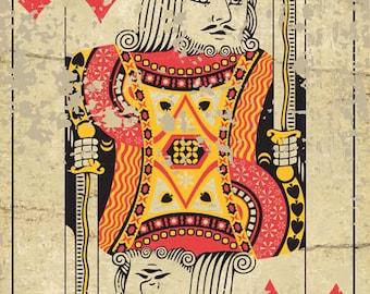 King Playing Card, Den, Gameroom, Mancave  HB7248